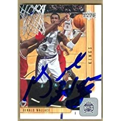 Gerald Wallace Autographed Hand Signed Basketball card (Sacramento Kings) 2002 Upper... by Hall of Fame Memorabilia