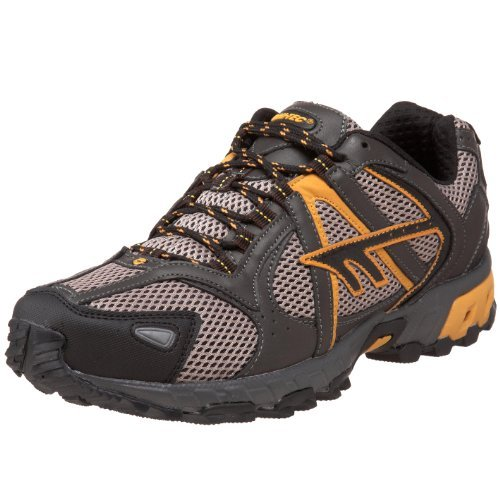 Hi-Tec Athletic Men's Berkeley Trail Running Shoe, Grey/Black/Yellow,10.5 M US