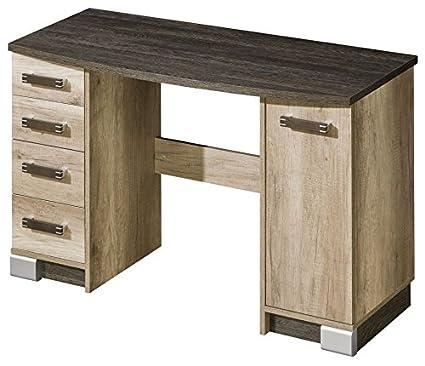 Schreibtisch Sichling 15, Farbe: Eiche Braun - Abmessungen: 79 x 120 x 50 cm (H x B x T)