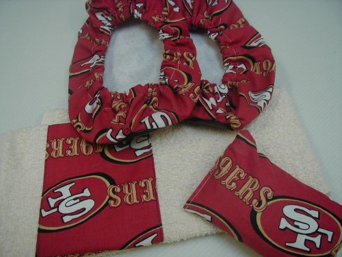 Picture of San Francisco 49ers Fabric Bowling Shoe Cover Rosin Bag Towel Set B001L86L5I (JumbosCreations Bowling Shoes)