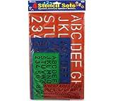 BAZIC 10, 17, 27, 40 mm Size Lettering Stencil Sets,
