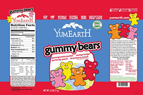 Theme Park Food and Safety Tips for the Whole Family - YumEarth Organic Gummy Bears, 24 Count