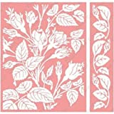 Cuttlebug A2 Embossing Folder/Border Set-Anna Griffin Mayfair Floral