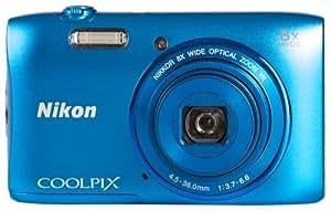 """Nikon CoolpixS3600 Appareil photo numérique compact 20,1 Mpix Ecran 2,7"""" Zoom optique 8x Bleu"""