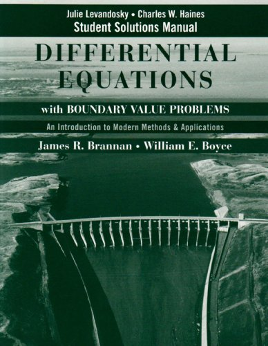 Student Solutions Manual to accompany Differential Equations with Boundary Value Problems