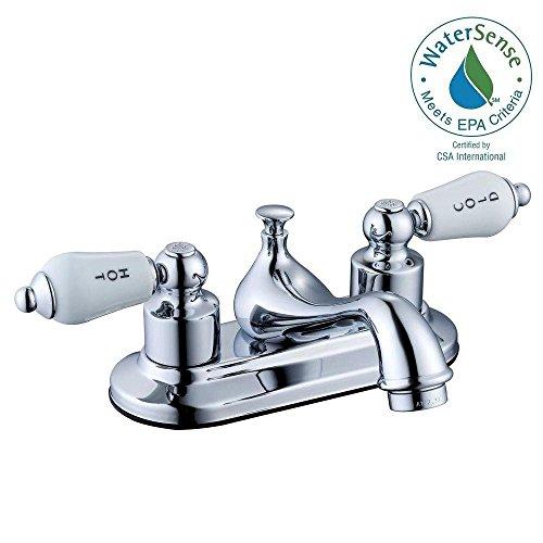 Glacier Bay Teapot 4 in. Centerset 2-Handle Low-Arc Bathroom Faucet in Chrome (Glacier Bay Teapot Faucet compare prices)