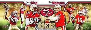 Amazon.com - Joe Montana & Jerry Rice 12x36 Photoramic Photo -