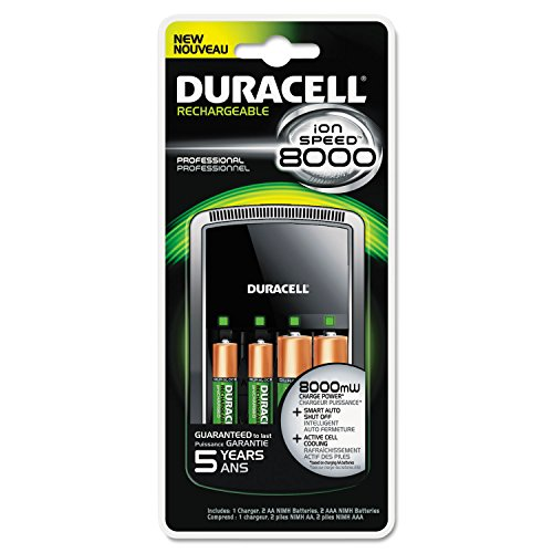 - ION SPEED 8000 Professional Charger, Includes 2 AA and 2 AAA NiMH Batteries (Duracell Ion Speed 8000 compare prices)
