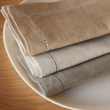 2 Tovagliette 45x45 cm Atlas lino grigio beige