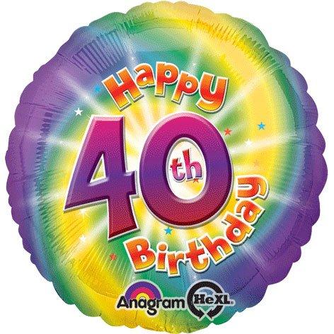 Amscan Happy 40th Birthday Circle Foil Balloon HS40