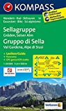 Sellagruppe - Gröden - Seiseralm / Gruppo di Sella - Val Gardena - Alpe di Siusi: Wanderkarte mit Kurzführer dt. /ital., Radwegen und alpinen Skirouten. GPS-genau. 1:50000 (KOMPASS-Wanderkarten)