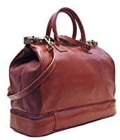 Floto Positano Gladstone Travel Bag in Saddle Brown Italian Calfskin Leather