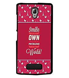 PrintDhaba Quote D-2614 Back Case Cover for LENOVO A2010 (Multi-Coloured)