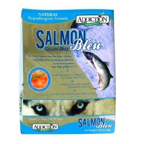 Addiction Grain-Free Adult Dry Dog Food, Salmon Bleu, 4 Pounds