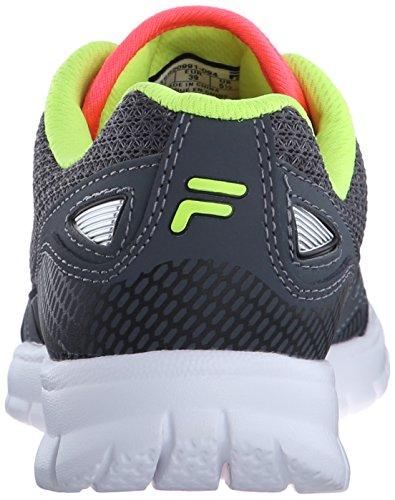 Fila Women's Direction-W Running Shoe, Castlerock/Diva Pink/Safety Yellow, 6 M US
