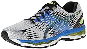 ASICS Men's Gel-Nimbus 17 Running Shoe,Lightning/Black/Flash Yellow,10.5 M US