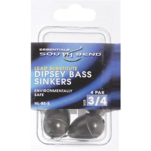 South bend non lead dipsey bass casting sinker 7 for Om fishing sinkers