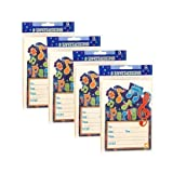 32 x Amscan Birthday Party Invitations & Envelopes - Music Notes