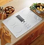 GE PP989TNWW Profile 30' White Electric Smoothtop Cooktop - Downdraft