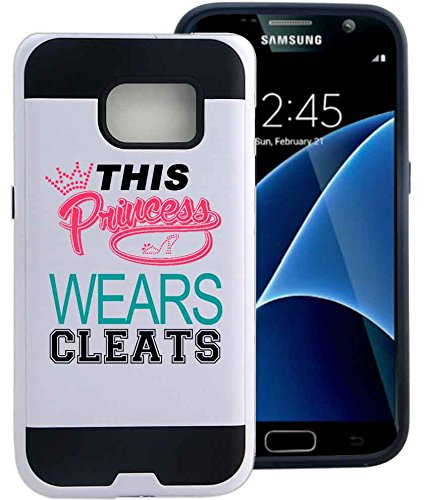 galaxy-s7-case-cover-princess-wears-cleats-softball-soccer-by-npcase-hybrid-unique-design-combo-case
