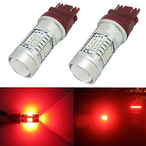 Alla Lighting Xtremely Super Bright 3157 3156 LED Red Bulbs High Power 3035 SMD for Turn Signal Brake Tail Light (92 Honda Prelude Tail Lights compare prices)
