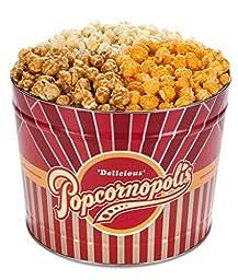 Popcornopolis Gourmet Popcorn 2 Gallon Tin - Classic