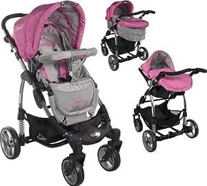 Carrito convertible con capazo y silla de cocheARTI Comfort B503 3w1 Pink