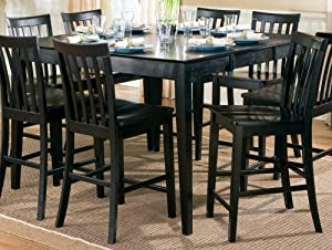 pines counter height dining table with leaf in black kitchen dining