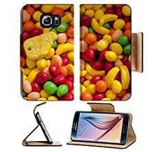 buy Msd Samsung Galaxy S6 Flip Pu Leather Wallet Case Image Of Some Sweet Candy At Street Market Image 19839906