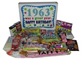 1963 50th Birthday Gift Basket Box Retro Nostalgic Candy From Childhood