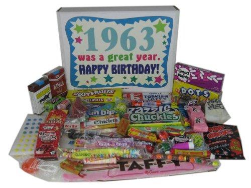 1963 50th Birthday Gift Basket Box Retro Nostalgic Candy From Childhood