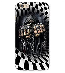 PrintDhaba Skeleton D-3674 Back Case Cover for APPLE IPHONE 6S (Multi-Coloured)