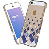 IPhone 5S/5 Case, ESR® the Beat Series Protective Case Bumper[Scratch-Resistant] [Perfect Fit] Hard Back Cover with Graduated Squares Pattern for iPhone 5 / 5S (The Checkers)