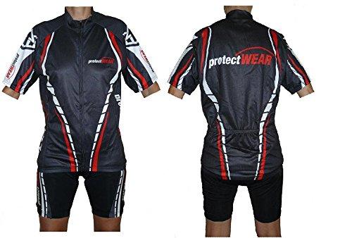 FTS protectWEAR-SWR-L T-shirt de cyclisme Noir/Blanc/Rouge