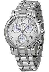Tissot T Classic Chronograph Mother of Pearl Dial Steel Ladies Watch T0502171111200