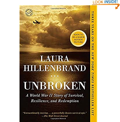 Unbroken: A World War II Story of Survival, Resilience, and Redemption Laura Hillenbrand (Author)  40 days in the top 100 (10592)Buy new:  $16.00  $9.83 82 used & new from $7.95