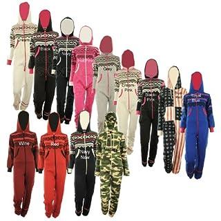 GG Womens Lusia Aztec Print Unisex Ladies Jumpsuit Onesie - Aqua ML 8-10