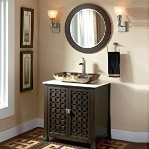 "Amazon.com - 30"" Giovanni Vessel Sink Vanity Cabinet Model HF339A"
