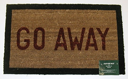 Geo Crafts G146 Pvc Backed Coco Door Mat Go Away With