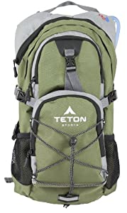 TETON Sports Oasis1100 Hydration Backpack with Bladder (18.5x 10x 7, Green) by Teton Sports