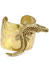 """EVOCATEUR """"Very Vintage"""" 22k Gold-Leaf Cuff Bracelet"""