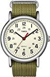 Timex Men's T2N651KW Weekender Olive Slip Through Strap Watch