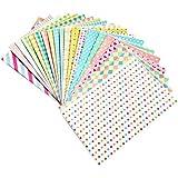 amazing-trading Lot de 20 stickers décoratifs pour photo Polaroid couleurs Pastel Couleurs pastel