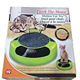 Floodoor Cat Scratch Plate Green and Black Cat Toy a Mouse on Top of Running Holder Scratching Tunnel Toy for Cats