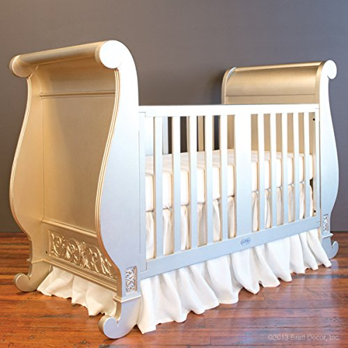 Bratt Decor chelsea sleigh crib antique silver 0