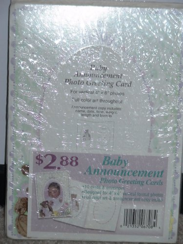 Baby Photo Announcements front-1054481