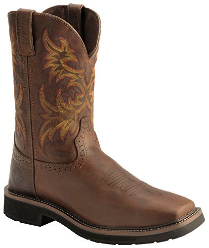 "Justin Original Work Boots Men's Stampede Collection 11"" Boot Stampede Square Toe,Rugged Tan,9.5 D US"