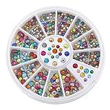 2mm 3mm Metallic Studs Rivet Flat Back Facet Rhinestones Wheels 3 D Nail Art Decorations