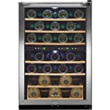 Frigidaire FFWC38F6LS 22 Freestanding Wine Cooler, 4.6 cu. ft. Capacity, 38-Bottles