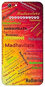 Madhavilata (a flowering creeper) Name & Sign Printed All over customize & Personalized!! Protective back cover for your Smart Phone : Samsung Galaxy A-5